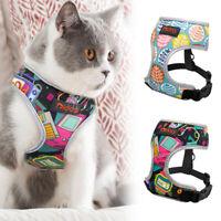 Reflective Cat Walking Jacket Harness Escape Proof Adjustable Mesh Padded Vest