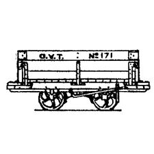 More details for oo9 / hoe glyn valley tramway mineral wagon (x5) - dundas dm42