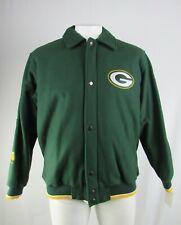 Green Bay Packers NFL Men's Big & Tall Full-Zip Super Bowl Wool Jacket