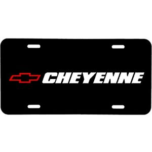 ALUMINUM LICENSE PLATE  Cheyenne many colors/reflective colors