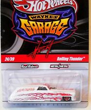 2011 Hot Wheels WAYNE'S GARAGE #24 * ROLLING THUNDER * WHITE CHASE FUNNY CAR