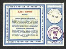 IRC INTERNATIONAL REPLY COUPON SWEDEN 85 ORE TYPE C1 1970 TO NEW YORK