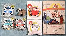 Vintage 1991 Happy Meal Toys -101 DALMATIANS - Complete Set (4) + 2 U-3 + 2 Bags