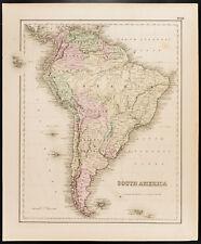 Carte ancienne (1857) Amérique du Sud, de Colton. Antique Map of South America