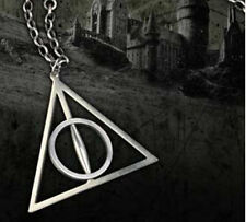 Metal Women Harry Potter The Deathly Hallows Charm Pendant Chain Necklace