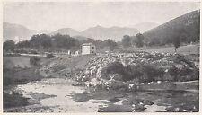 D2277 Val Calore - Bagno della Regina - Stampa d'epoca - 1923 vintage print