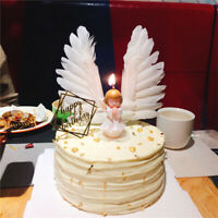 New Angel Feather Wing Flag Cake Toppers Birthday Wedding Party Cake Decoration