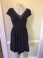 LC Lauren Conrad Dress Cap Sleeve Lace Front-Back V Neck Dresses NWOT