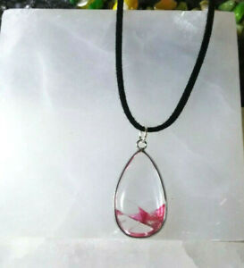 Necklace with Natural Crystal Pendant Natural Stone Women Men Summer Spring