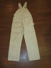 Vintage White Painter Carpenter Overalls Tall Person 60s 50s ? Railroad Buttons