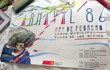 1986 Carnival in Zaragoza, Spain Poster