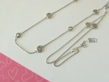 Brighton Intrigue Disc Two Tone Long Crystals Necklace Nes