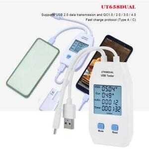 UNI-T UT658A/C/DUAL USB Tester Digital Charger Capacity Meter with Data Storage