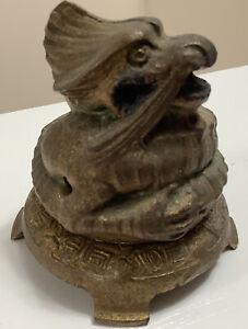 VINTAGE Vantines 1013 dragon qilin Incense Burner / holder art deco