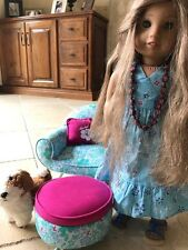 American Girl Kanani and Accessories: Dog, Hammock, Chair, Food
