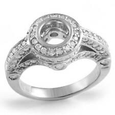 1 Ct Natural Round Diamond Setting G VS1 Engagement Wedding Ring 14k White Gold