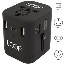 LOOP BEST World Travel Adapter with Dual USB Charger [2.5A] International [US...