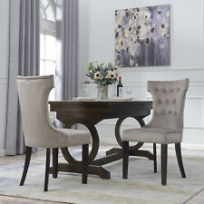 Set of 2 Parsons Elegant Tufted Upholestered Dining Chair Living Dining, Taupe