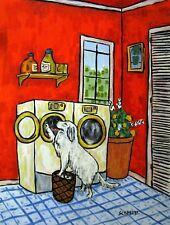 GREAT PYRENEES LAUNDRY dog pet art print 8x10 poster