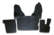 ECO LEATHER SET BLACK FLOOR MATS COVERS TRUCK DAF XF 106 RHD AUTOMATIC GEARBOX