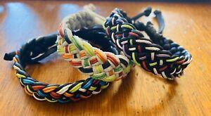 Handmade Colourful Hippie Adjustable Leather Bracelet. ☮️🌈☮️ Au Seller 🇦🇺