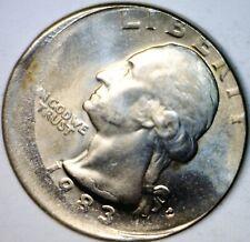 1983 ERROR OFF CENTER Washington Quarter BU + Coin NICE O/C Lot #Z8   NO RESERVE