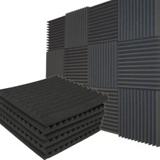 24 Pack Soundproofing Studio Room Foam Wedge Panel Tiles Noise Insulation Pads