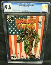 Saga of the Swamp Thing #44 (1986) Bissette Patriotic Cover CGC 9.6 F369