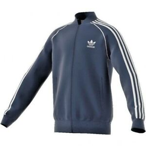 Sweatshirt adidas Original Junior CF8554 Blau Junge Jersey Zip Track Jacke Neu