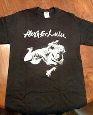 FLESH FOR LULU vintage black men's t-shirt Pin-Up Girl Knife Fight NEW MEDIUM M
