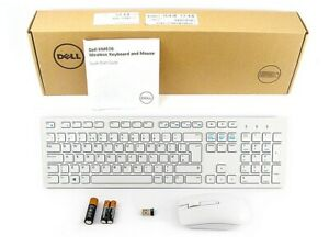 Dell Wireless UK QWERTY Keyboard and Mouse KM636 White