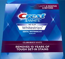 NO BOX CREST 3D GLAMOROUS WHITE Whitestrips Teeth Dental Whitening Strips 2021