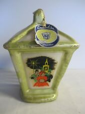 Vintage 50's Christmas Lantern W/ Snow Penn Wax Works Candle with Tag