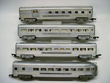 Set of 4 American Flyer Aluminum Passenger Cars [Lot 9-P9]