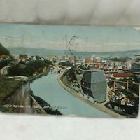 Vintage Postcard Erie Canal From Lovers Leap Scene Little Falls New York 1910