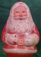 Vintage Santa Claus Figurine Christmas Decoration Hard Plastic Retro