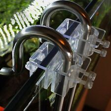 2pcs Acrylic Pipe Holder Aquarium Fish Tank Filter Fix Bracket Hook 20mm Dia