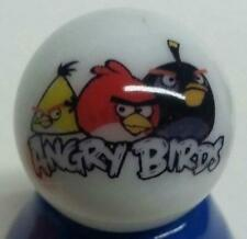 """Very Nice AngryBirds Collectible Glass 1"""" Logo Marble w/ Stand"""