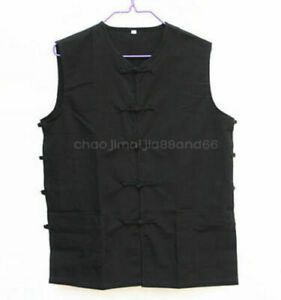 100% Cotton Chinese traditional Kung fu Shaolin Wushu ChothesVest jacket T-shirt