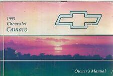 CHEVROLET CAMARO V6 3.4L 3.8L & V8 5.7L ORIGINAL 1995 OWNERS INSTRUCTION MANUAL
