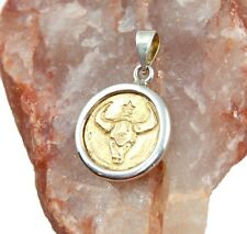Taurus Astrology Zodiac GOLD Pendant - Zodiac Sign, Sterling Silver Horoscope