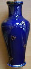 Vase  de SEVRES   (Manufacture)     1920   bleu foncé et flocons de neige dorés
