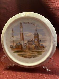 Vintage Porcelain Atlantic City Light House TRIVET/Plaque...Made in Germany