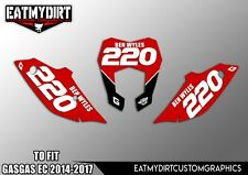 FOR GASGAS EC 250 300 450 2014 -2017 PRINTED BACKGROUNDS  NUMBERS GRAPHICS DECAL