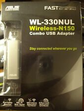 ASUS Wireless-N150 WL-330NUL Combo USB Adapter Quantity- 1 *NEW*