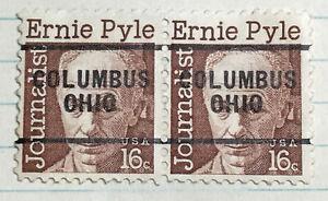 2 US PRECANCEL COLUMBUS OHIO 16 CENT ERNIE PYLE (CIW)