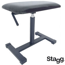 Stagg Keb-A70 Satin Black Hydraulics Adjustable Keyboard Bench with Vinyl Top