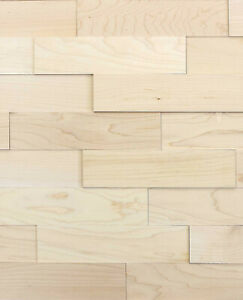 wodewa Holz Wandverkleidung  AHORN natur I Echtholz I Paneele Wandgestaltung 3D