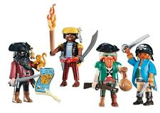 Playmobil 4 Pirate figures INTI-Capitaine Carte armes Sailor New Custom Lot