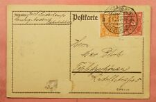 1923 GERMANY INFLATION ERA POSTCARD DUISBURG CANCEL * EXPERTISED